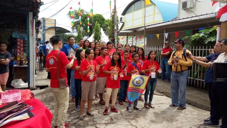 Yel-Yel Unik Kontingen Peserta pada Opening Ceremony JAMNAS SEKAMI 2018 di Keuskupan AgungPontianak.