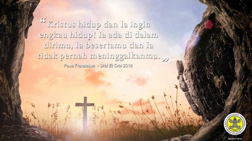 Pesan Paskah dan Berkat Urbi Et Orbi2019