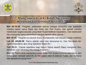 Tanya-Jawab Misi 12