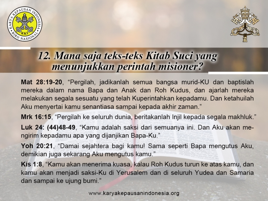Misionary Questions (12)