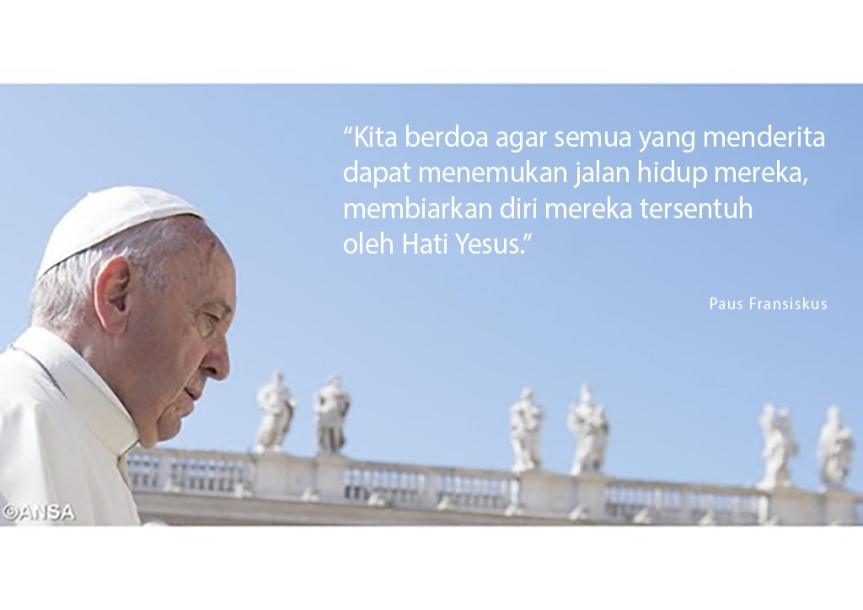 Intensi doa Paus untuk bulan Juni: Belas kasih bagi dunia di tengah pandemiCovid-19