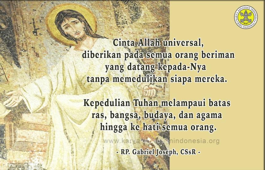 Cinta Allah Lampaui Batas & SekatManusia