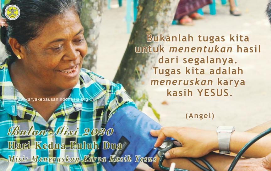 Misi: Meneruskan Karya KasihYesus