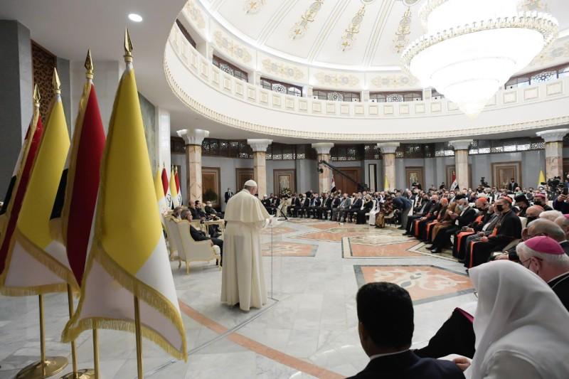 Pidato Paus Fransiskus kepada Otoritas, Masyarakat Sipil dan Korps DiplomatikIrak