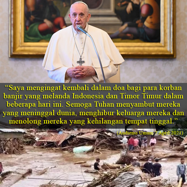 Doa Paus Bagi korban banjir