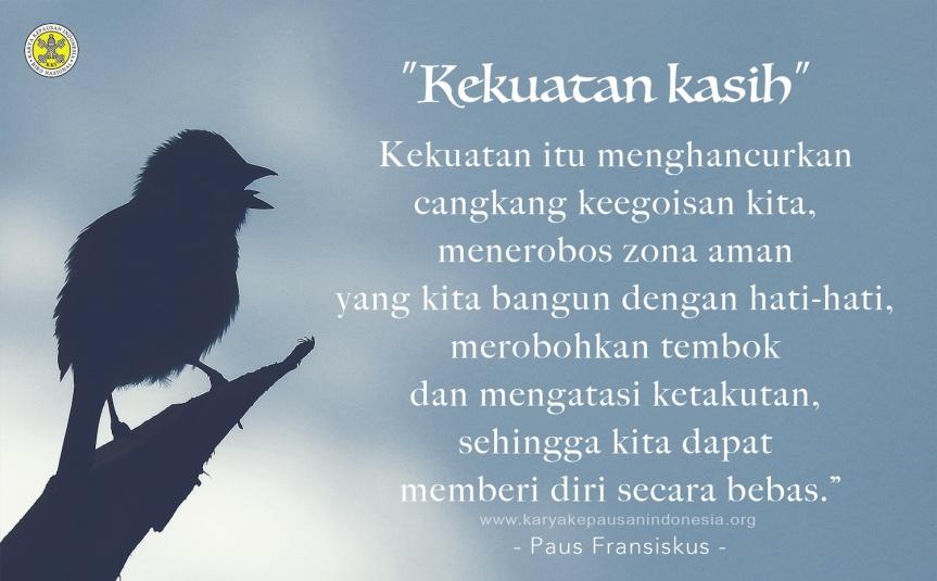Cinta Kasih Buah Persatuan denganAllah