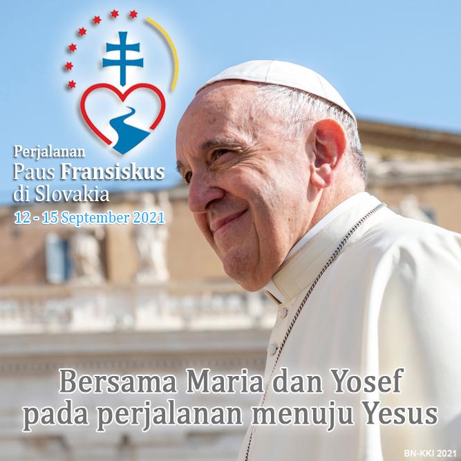 Jadwal Perjalanan Apostolik Paus Fransiskus di Budapest dan Slovakia 12-15 September2021