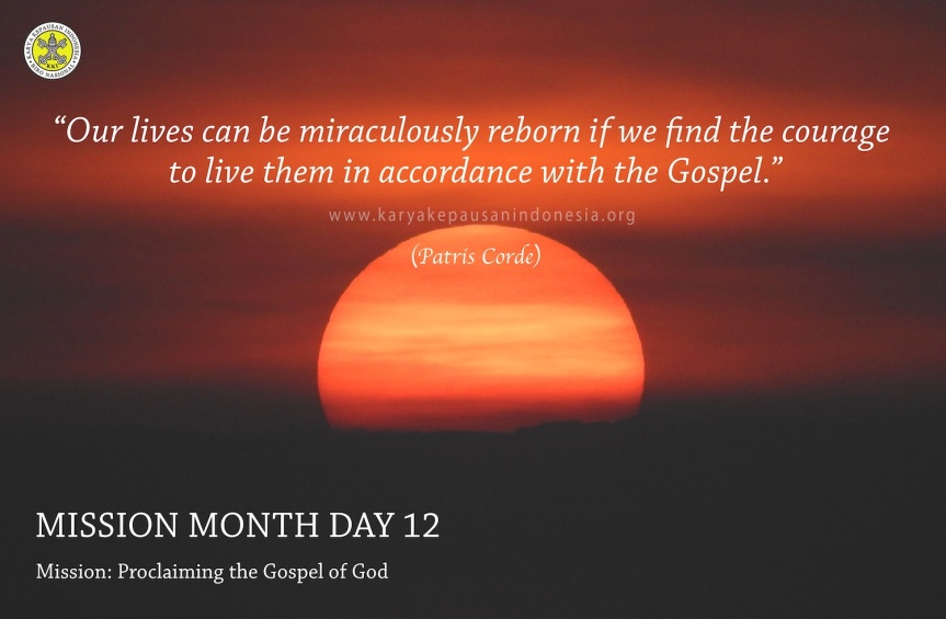 Mission: Proclaiming the Gospel ofGod